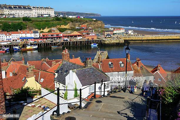 Looking down from the 199 steps of Whitby
