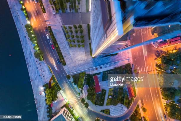 looking down from the skyscrapper - liyao xie stock-fotos und bilder