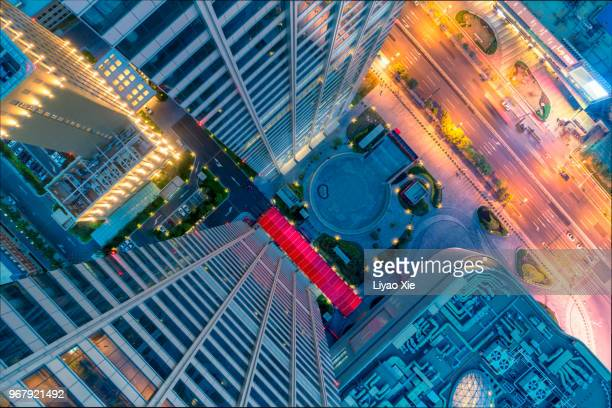 Looking down from the skyscrapper