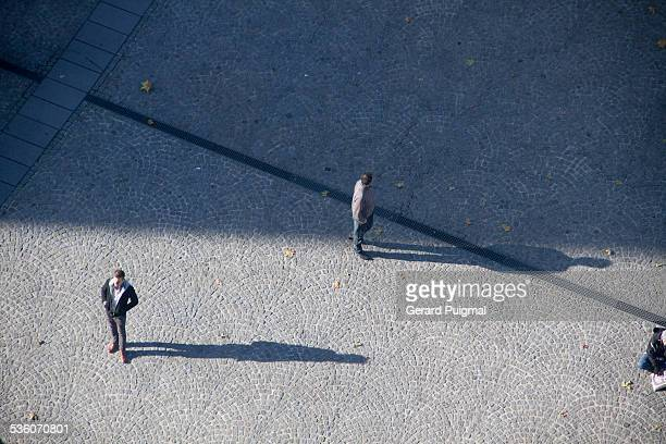 looking down from up - centre pompidou stock pictures, royalty-free photos & images