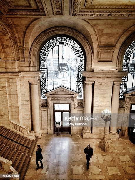 looking down from up - new york public library stock pictures, royalty-free photos & images