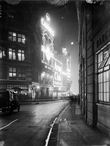 Looking down Glasshouse Street to the junction with...
