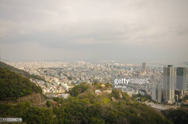 looking down kobe city - azrin az stock pictures, royalty-free photos & images