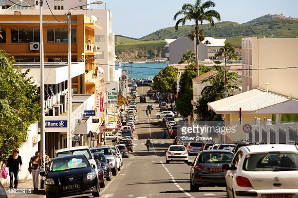 Looking down Noumea street to harbour.