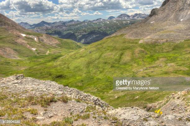 Looking Down on Continental Divide Trail and Mountains