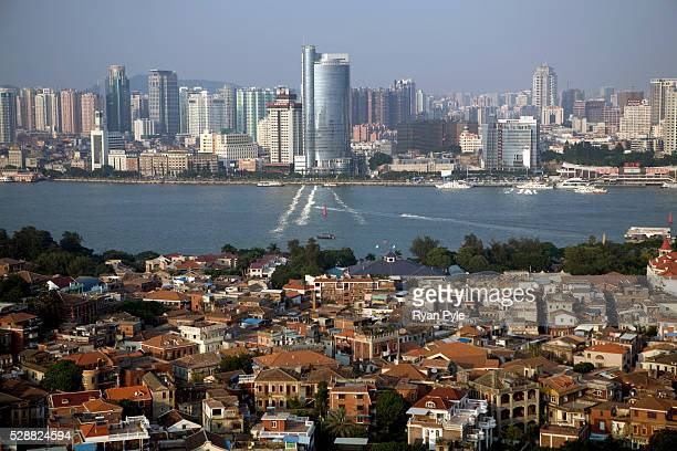Looking down on Gulang Yu Island and in the background the city of Xiamen By the 1880s Gulang Island was a colonial haven It boasted its own English...