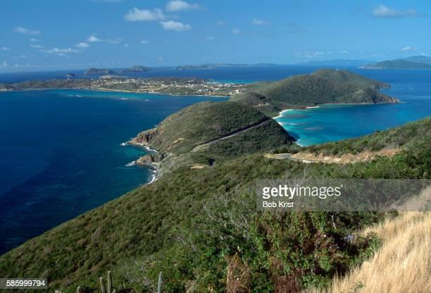 looking down on virgin gorda - islas de virgin gorda fotografías e imágenes de stock
