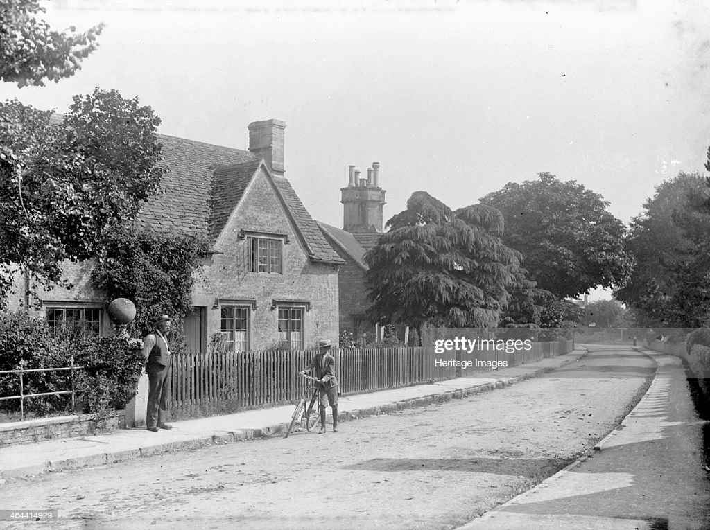 The village of Hatherop, Gloucestershire. Artist: Henry Taunt : News Photo