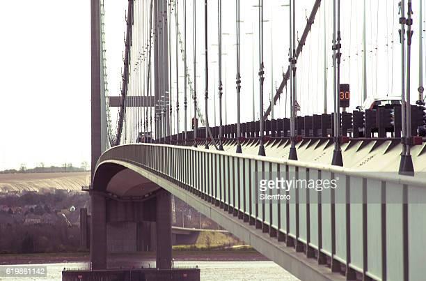 Looking down Side Length of Humber Bridge