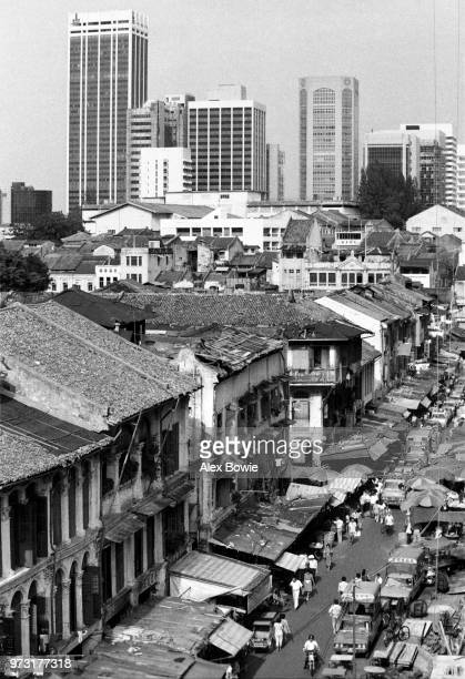 Looking down Smith St towards the Central Business District The once famed Chinese opera theatre Lai Chun Yuen sits on the corner of Trengganu Street...