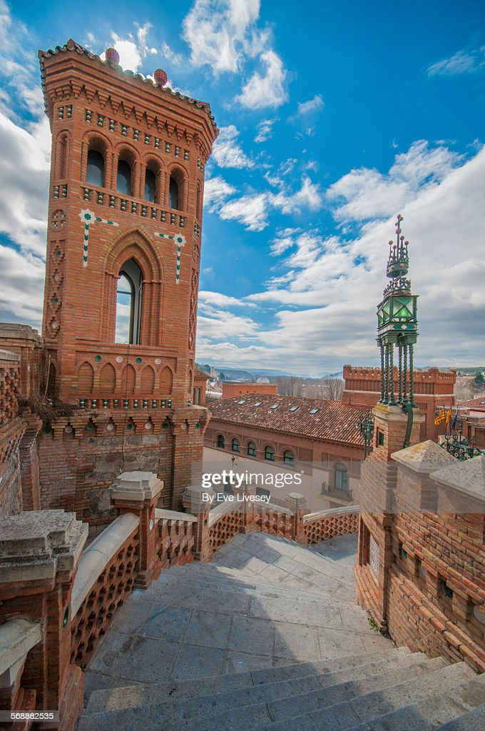 Looking Down Teruel Staircase : Stock Photo
