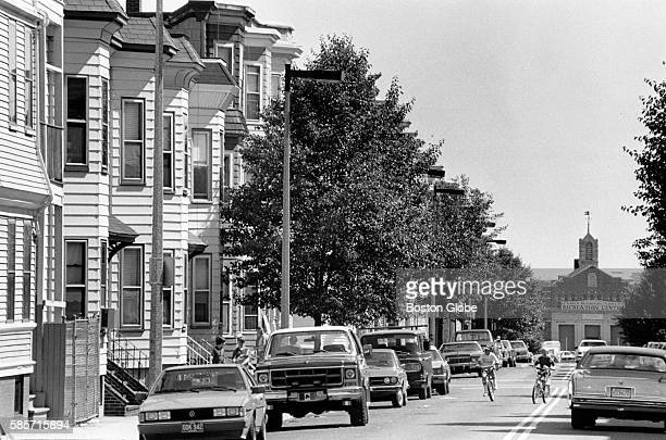 Looking down the street towards the L Street Bathhouse in South Boston June 11 1985