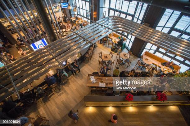 Looking down to the main area from the 2nd floor The Craft Beer Market recently opened at 1 Adelaide Street East features 165 taps of beer wine and...