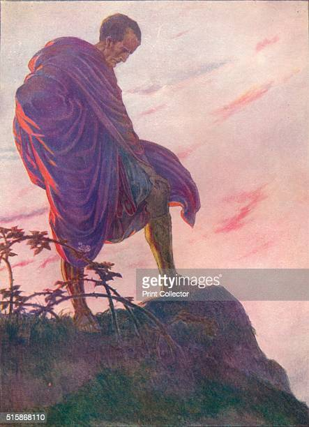 Looking down upon the stream he stood awhile deep in thought' circa 1912 Julius Caesar sailed to Epirus with seven legions of his army leaving the...