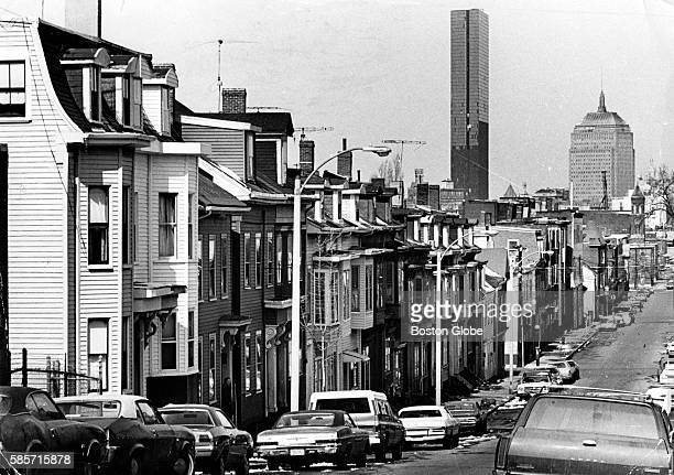 Looking down West Fifth Street in the South Boston neighborhood of Boston on April 11 1974