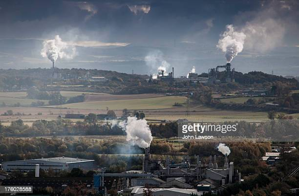 Looking east from Stirling, steam and smoke rise from the factories of the Forth Valley. The Forth Valley has previously been cited by the Scottish...