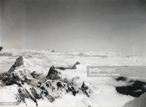 Looking east from summit southwest of advanced base. By George Leigh Mallory. Mount Everest Expedition 1921.