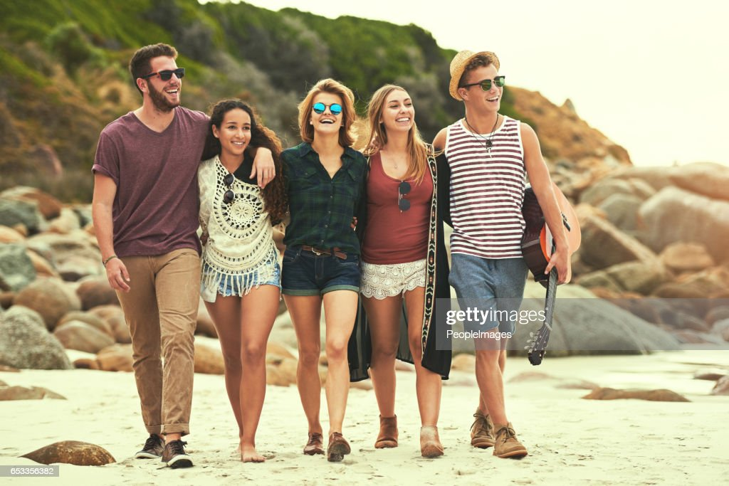 Looking for a spot on the beach : Stock Photo