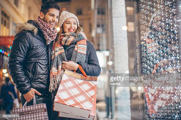 looking for christmas gifts - black friday stock photos and pictures