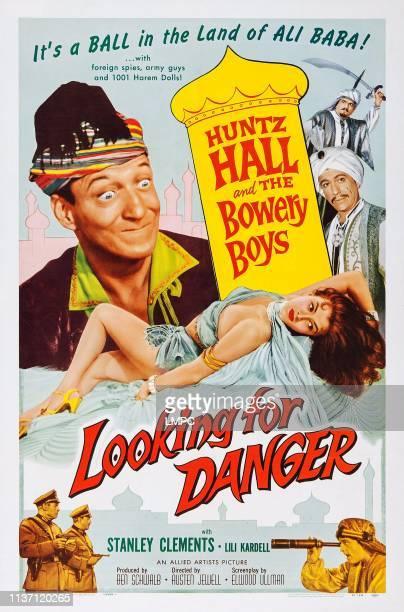 Huntz Hall bottom Joan Bradshaw on poster art 1957