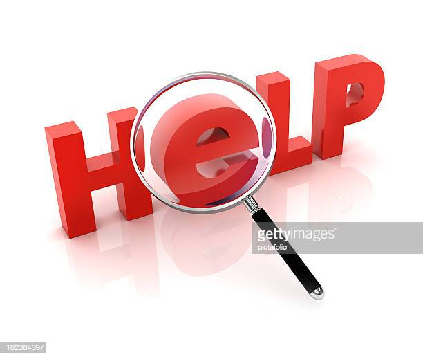looking for help - magnifying glass icon stock photos and pictures