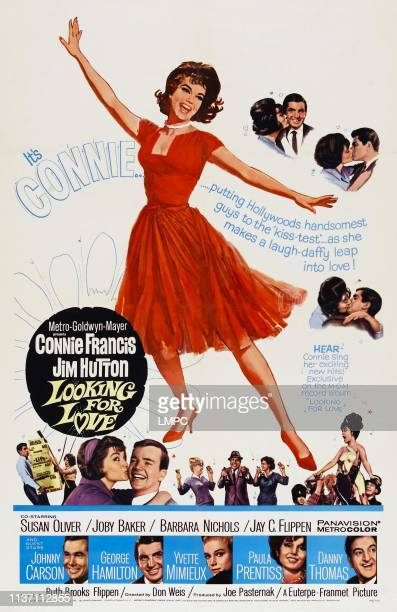 Looking For Love poster US poster Connie Francis bottom from left Johnny Carson George Hamilton Yvette Mimieux Paula Prentiss Danny Thomas 1964