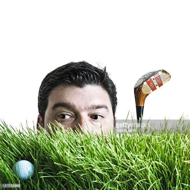 sie nach dem golf ball - golf lustig stock-fotos und bilder