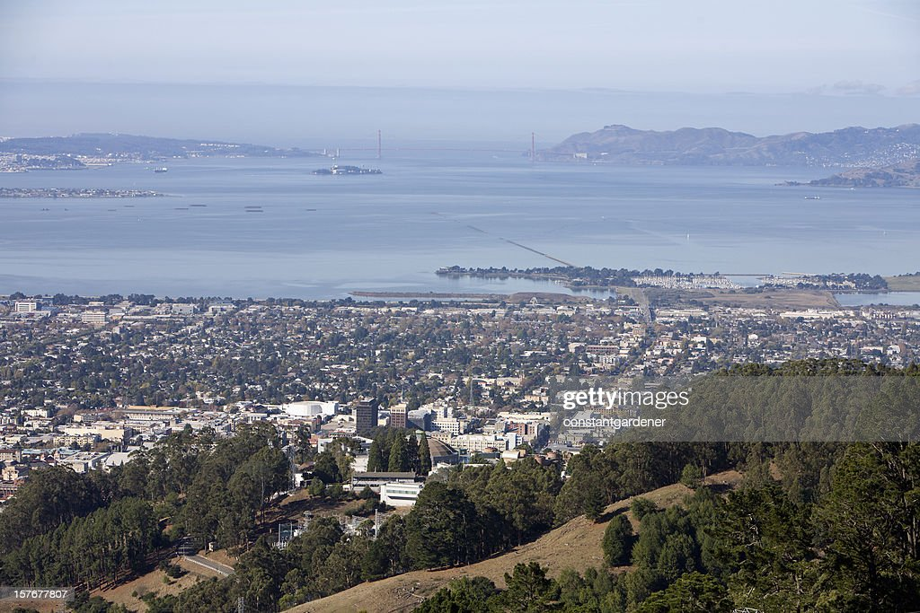 Looking From Berkeley To A Far Away Golden Gate Bridge : Stock Photo