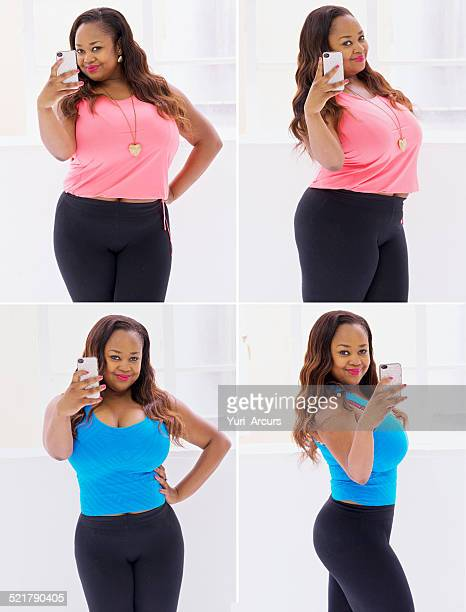 looking good at every angle - images of fat black women stock photos and pictures