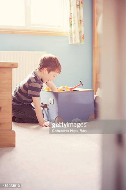 Looking in a toy box