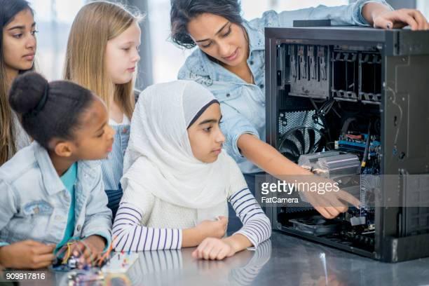 Blick ins Innere eines Computers