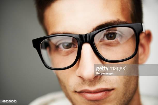 Suchen Sie in den Augen einer Hipster