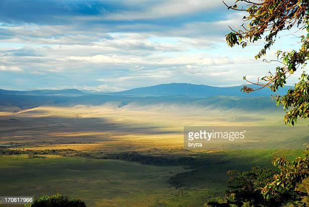 Looking into the Ngorongoro crater,Tanzania