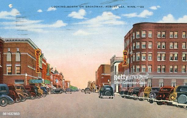 Looking North on Broadway Albert Lea Minnesota 1947