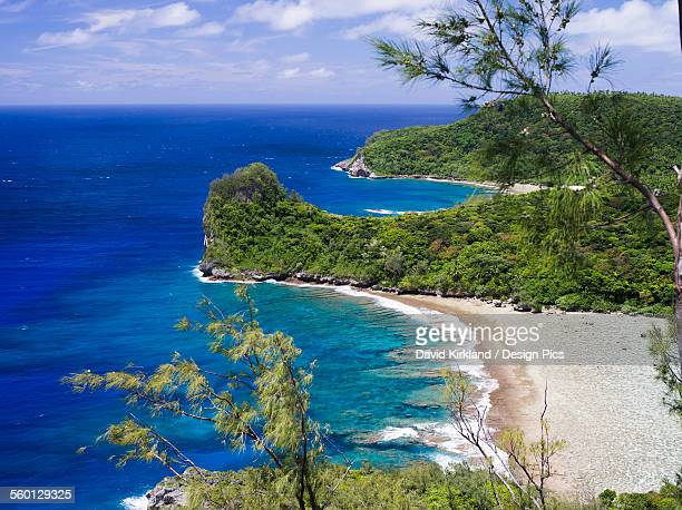 looking out across the coastline of the main island of vavau island - tonga stock pictures, royalty-free photos & images