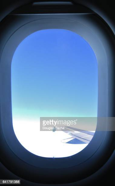Looking out of an aircraft window