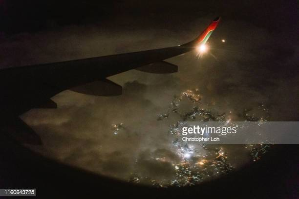 376 Airplane Window Night Photos And Premium High Res Pictures