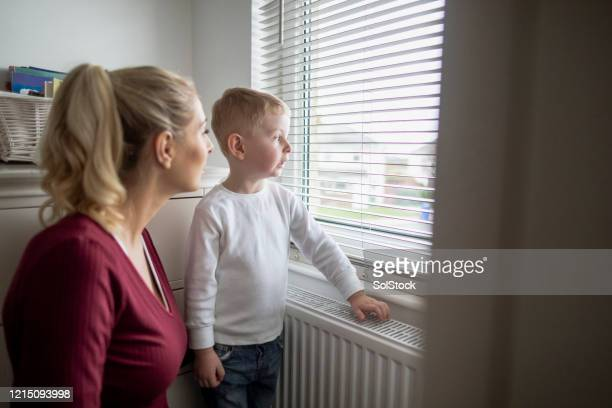 looking out the window! - mother stock pictures, royalty-free photos & images