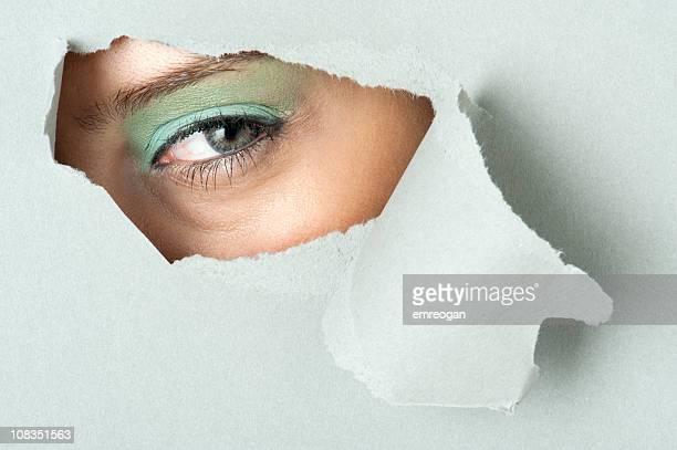 外スルーホール - peeping holes ストックフォトと画像