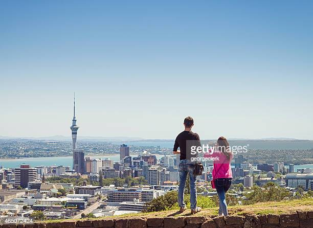 looking over auckland - auckland stock pictures, royalty-free photos & images