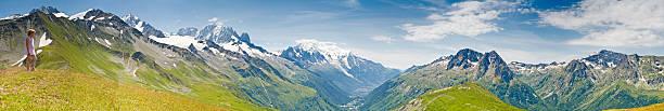 Looking over Mont Blanc Chamonix