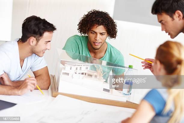 見渡すの設計 - 建築模型 ストックフォトと画像