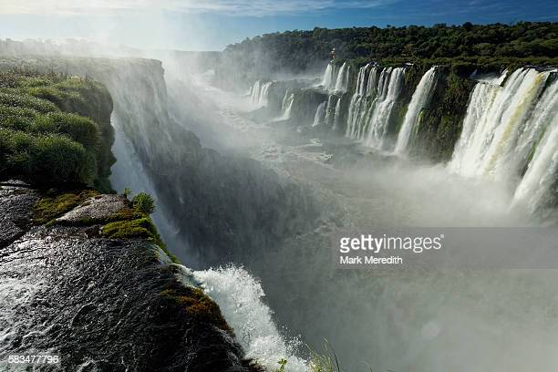 Looking over the precipice at the head of Iguazu Falls by the Devil's Throat