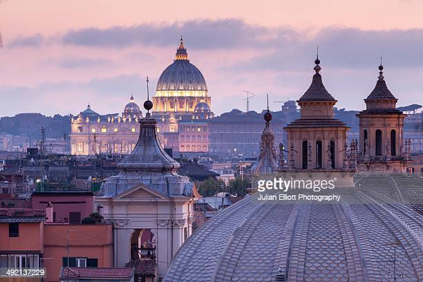 Looking over the rooftops of Rome.