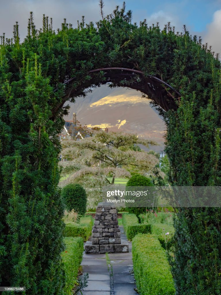 Looking Past the Evergreen Arch - Keswick - England : Stock Photo