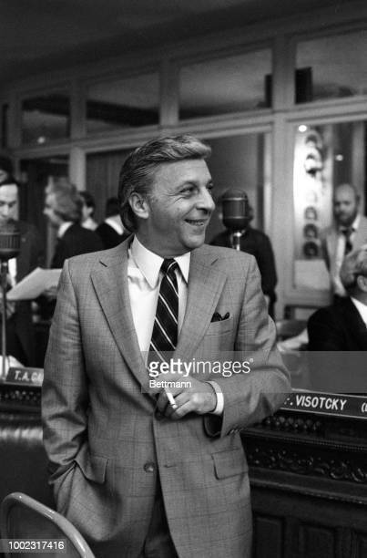Looking relaxed and at ease, Senator Angelo Errichetti, who is also the mayor of Camden, NJ, attends a joint session of the legislature. It is the...