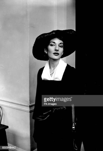 Looking serene under her widebrimmed hat is Italian opera singer Maria Callas pictured at the Royal Opera House Covent Garden for a rehearsal She...
