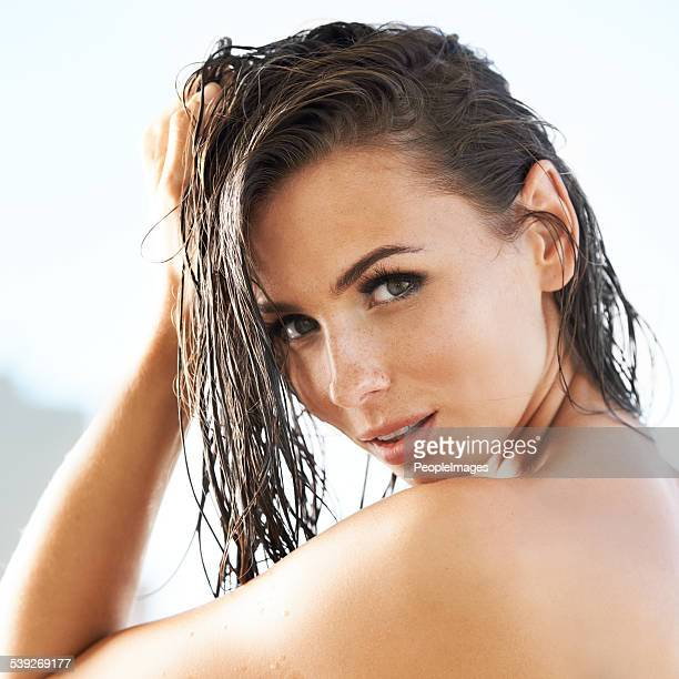 Looking sexy with wet hair