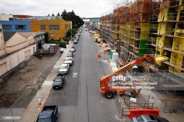 Looking south along Indiana St., on Thurs. May 5 which is a block south of a building at 777 Mariposa which was purchased by UCSF in the Dogpatch...