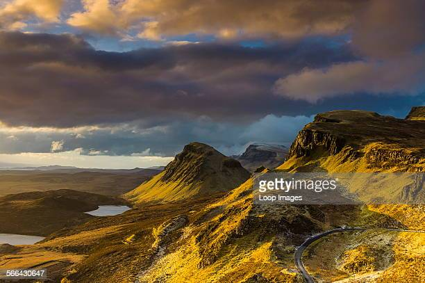 Looking south along the Trotternish peninsula from the Quiraing at dawn.